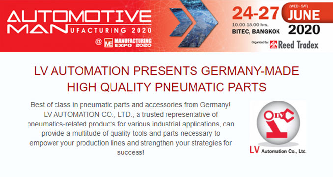 LV AUTOMATION Presents Germany-Made High Quality Pneumatic Parts