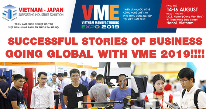 Go global Create business chances with value at VME 2019!