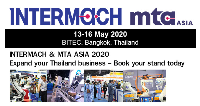 INTERMACH & MTA ASIA 2020: Expand your Thailand business - Book your stand today
