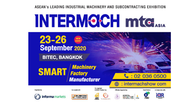 New Dates Announcement of INTERMACH and MTA Asia 2020